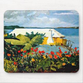 Winslow Homer: Flower Garden and Bungalow Mouse Mat