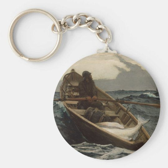 Winslow Homer Fog Warning Basic Round Button Key Ring