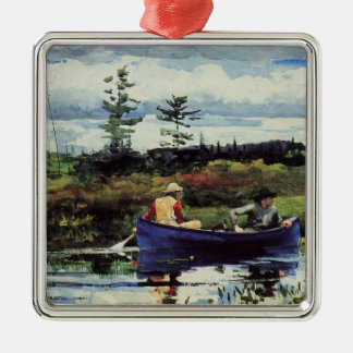 Winslow Homer: The Blue Boat, 1892, artwork Christmas Ornament