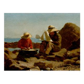 Winslow Homer - The Boat Builders Postcard