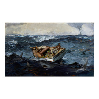 Winslow Homer The Gulf Stream Poster
