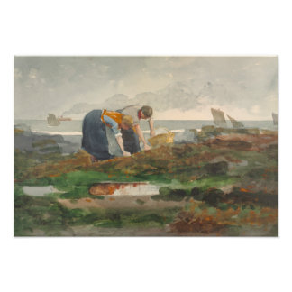 Winslow Homer - The Mussel Gatherers Photographic Print