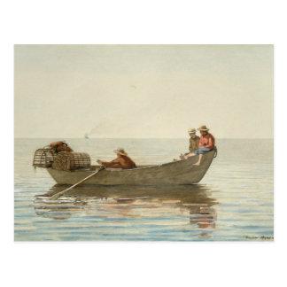 Winslow Homer - Three Boys in a Dory Postcard