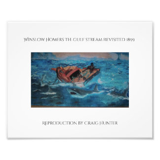 Winslow Homers reproduction of the Gulf Stream Photo Print