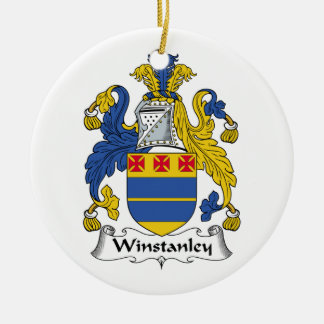 Winstanley Family Crest Christmas Ornament