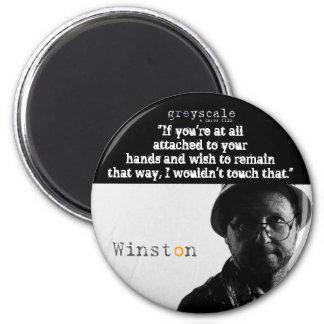 Winston Button 6 Cm Round Magnet