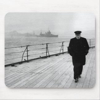 Winston Churchill At Sea Mouse Mat
