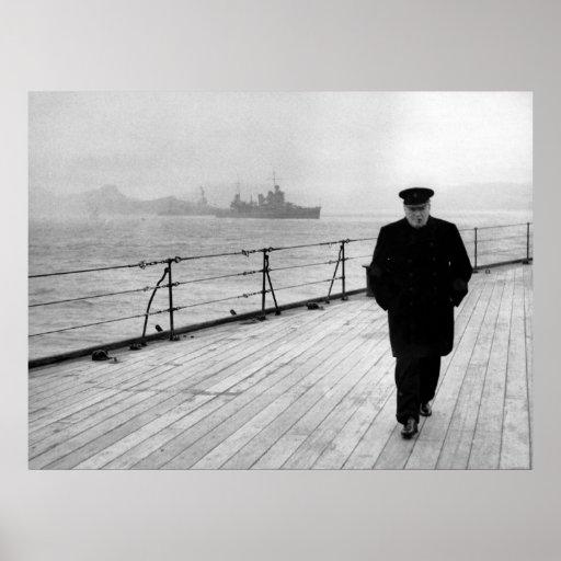 Winston Churchill At Sea Print