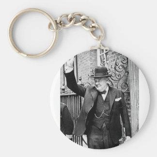 Winston Churchill Basic Round Button Key Ring