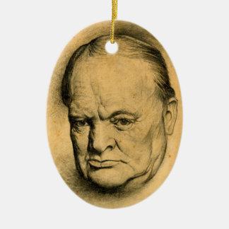 Winston Churchill Christmas Ornament