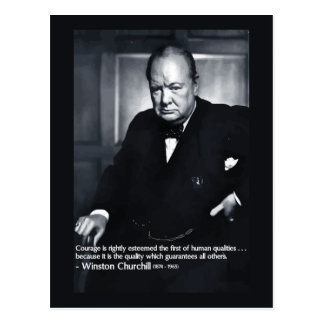 Winston Churchill Courage Quote Postcard