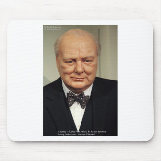 Winston Churchill Failure Wisdom Quote Gifts Mouse Pad