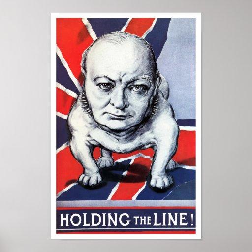 Winston Churchill -- Holding The Line! Print