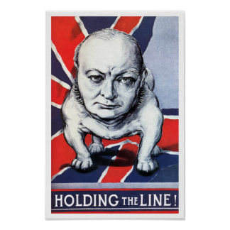 Winston Churchill -- Holding The Line Print