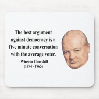 Winston Churchill Quote 10b Mousepads