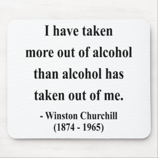 Winston Churchill Quote 12a Mouse Pads