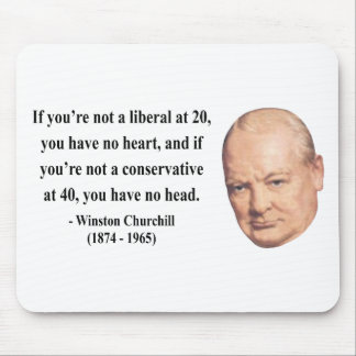 Winston Churchill Quote 15b Mouse Pads