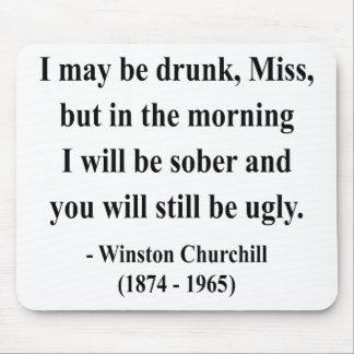 Winston Churchill Quote 2a Mouse Pad