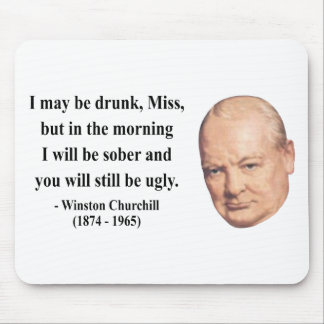 Winston Churchill Quote 2b Mouse Pad