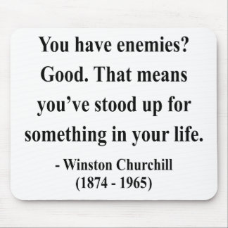 Winston Churchill Quote 3a Mouse Mat