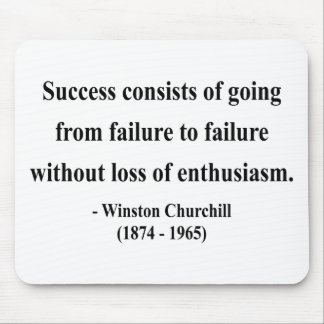 Winston Churchill Quote 5a Mouse Mat