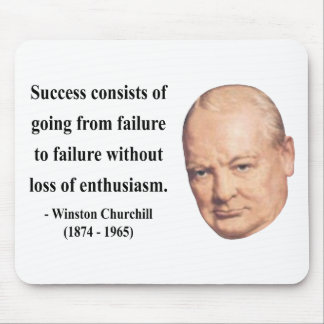 Winston Churchill Quote 5b Mouse Pad