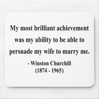 Winston Churchill Quote 6a Mouse Pad