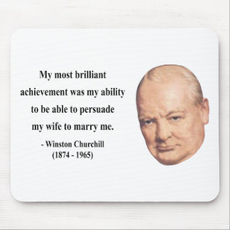 Winston Churchill Quote 6b Mouse Pad