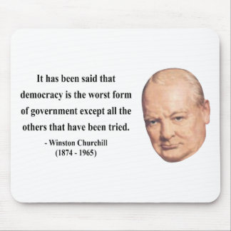 Winston Churchill Quote 9b Mousepad