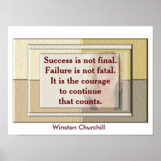 Winston Churchill - quote poster