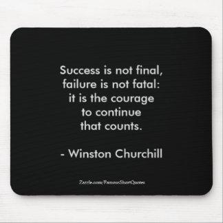 Winston Churchill Quote; Success 2.0 Mouse Mat