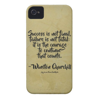 Winston Churchill Quote; Success iPhone 4 Cover