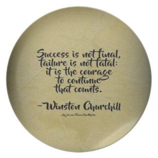 Winston Churchill Quote; Success Plate