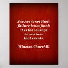 Winston Churchill Quote; Success Poster