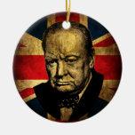 Winston Churchill Round Ceramic Decoration