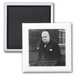 "Winston Churchill ""Success Never Final"" Gifts Refrigerator Magnets"