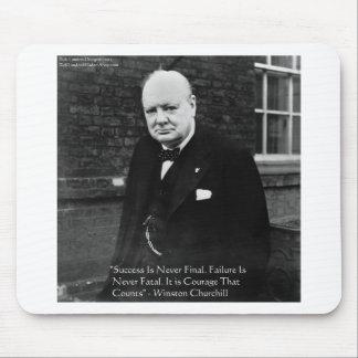 """Winston Churchill """"Success Never Final"""" Gifts Mouse Mat"""