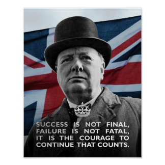 Winston Churchill- Success Poster