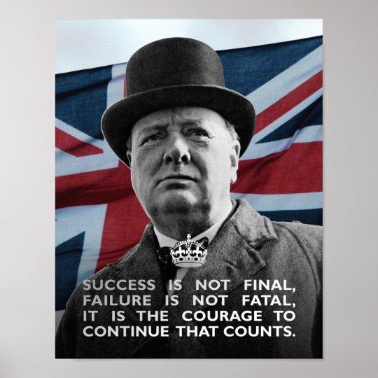 Winston Churchill- Success Poster