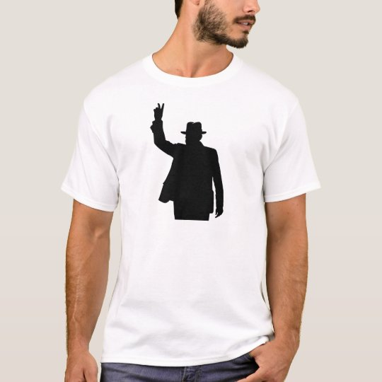 Winston Churchill - Victory Silhouette T-Shirt