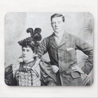 Winston Churchill with his mother 2 Mouse Mat