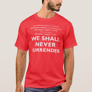 Winston Churchill's Speech T-Shirt