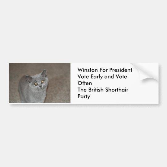 Winston for President Bumper Sticker