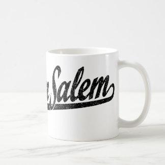 Winston-Salem script logo in black distressed Coffee Mug