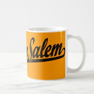 Winston-Salem script logo in black distressed Coffee Mugs