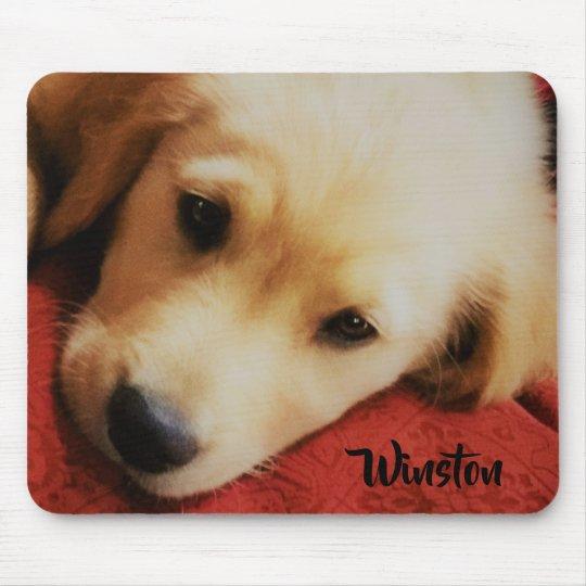 Winston the Golden Retriever Puppy, Mousepad