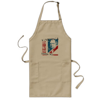 Winston's Bar, London (worn look) Long Apron