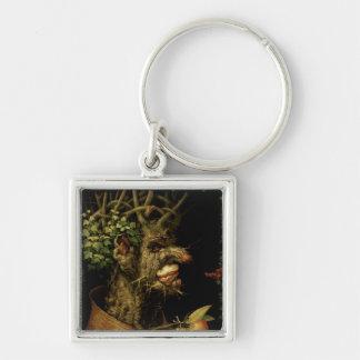 Winter, 1573 Silver-Colored square key ring