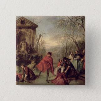 Winter, 1738 15 cm square badge