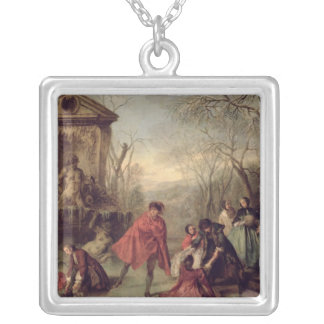 Winter, 1738 silver plated necklace